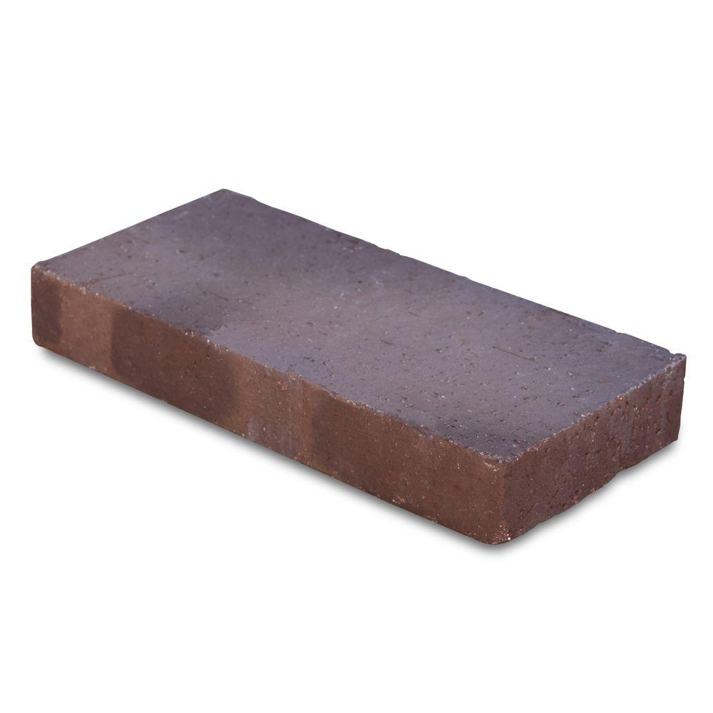 null Traveler 11.5 in. x 5.5 in. x 1.63 in. Brown Clay Flash Paver