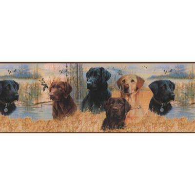 Lake Forest Lodge Working Dogs Wallpaper Border