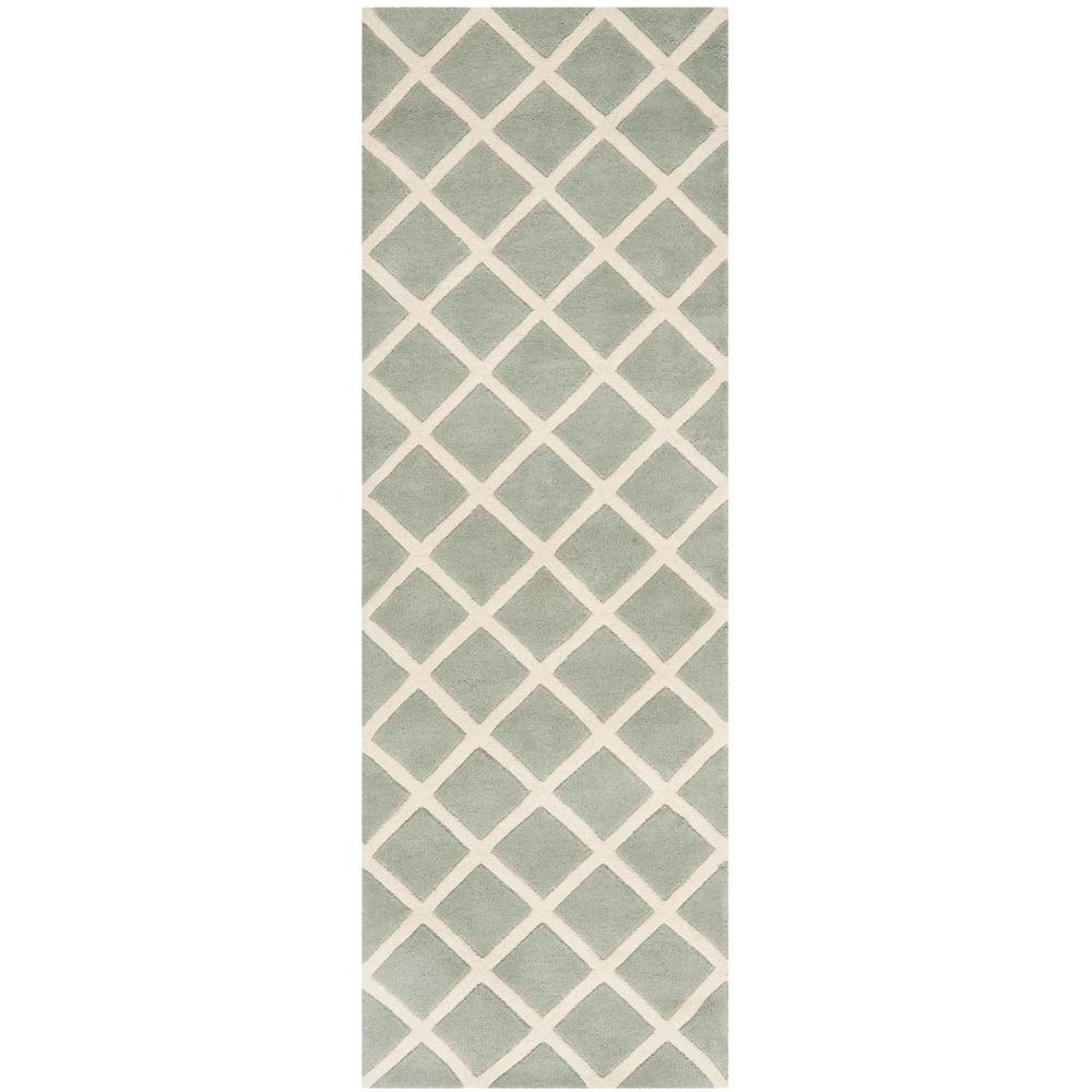 Safavieh Chatham Grey/Ivory 2 ft. 3 in. x 9 ft. Runner