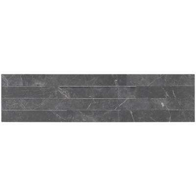 Midnight Mount Ledger Panel 6 in. x 24 in. Glazed Porcelain Floor and Wall Tile (11 sq. ft. / case)