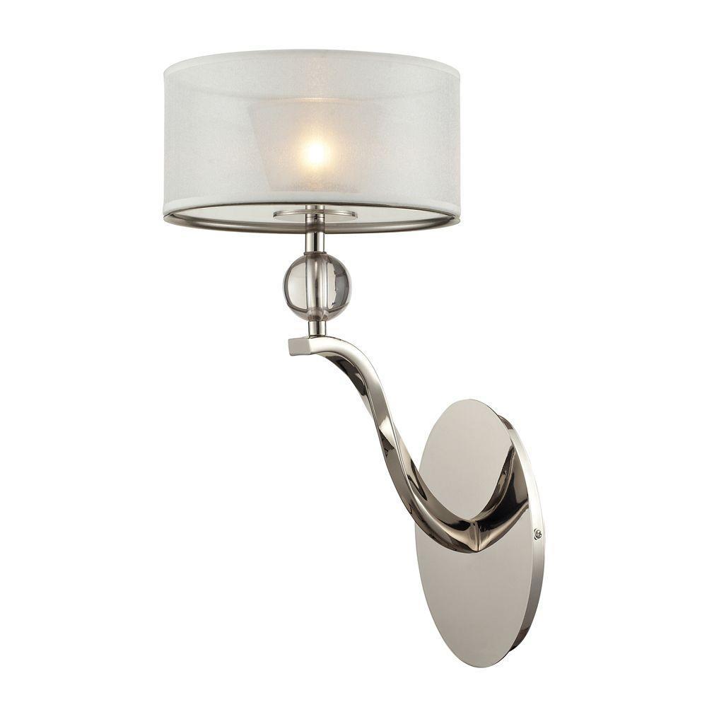 Titan Lighting Corisande 1-Light Polished Nickel Sconce
