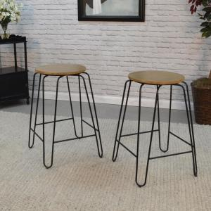 Super Ethan 24 In Maple Stacking Stool Set Of 2 Bralicious Painted Fabric Chair Ideas Braliciousco