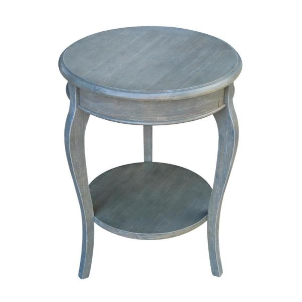 Cambria 24 in. H Heather Gray End Table
