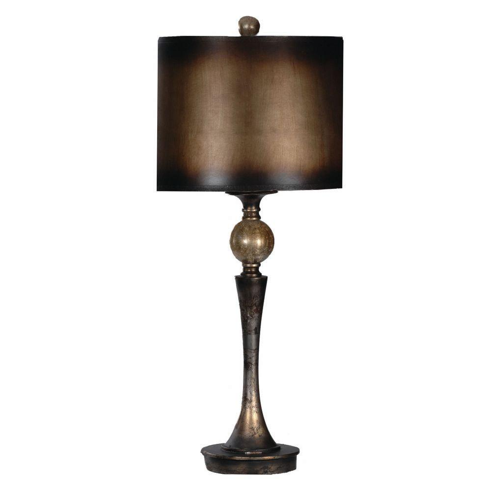 Absolute Decor 34.75 in. Blackened Silver Table Lamp-DISCONTINUED