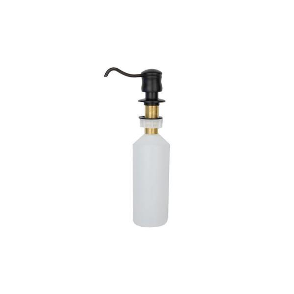 Solid Brass Soap and Lotion Dispenser in Oil Rubbed Bronze