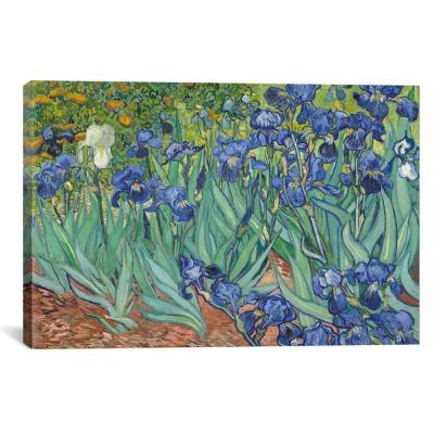 """Irises, 1889"" by Vincent van Gogh Canvas Wall Art"