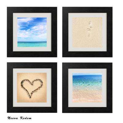 "Four 10 in. x 10 in. ""Beach Beauty"" by Neeva Kedem Framed Printed Wall Art"
