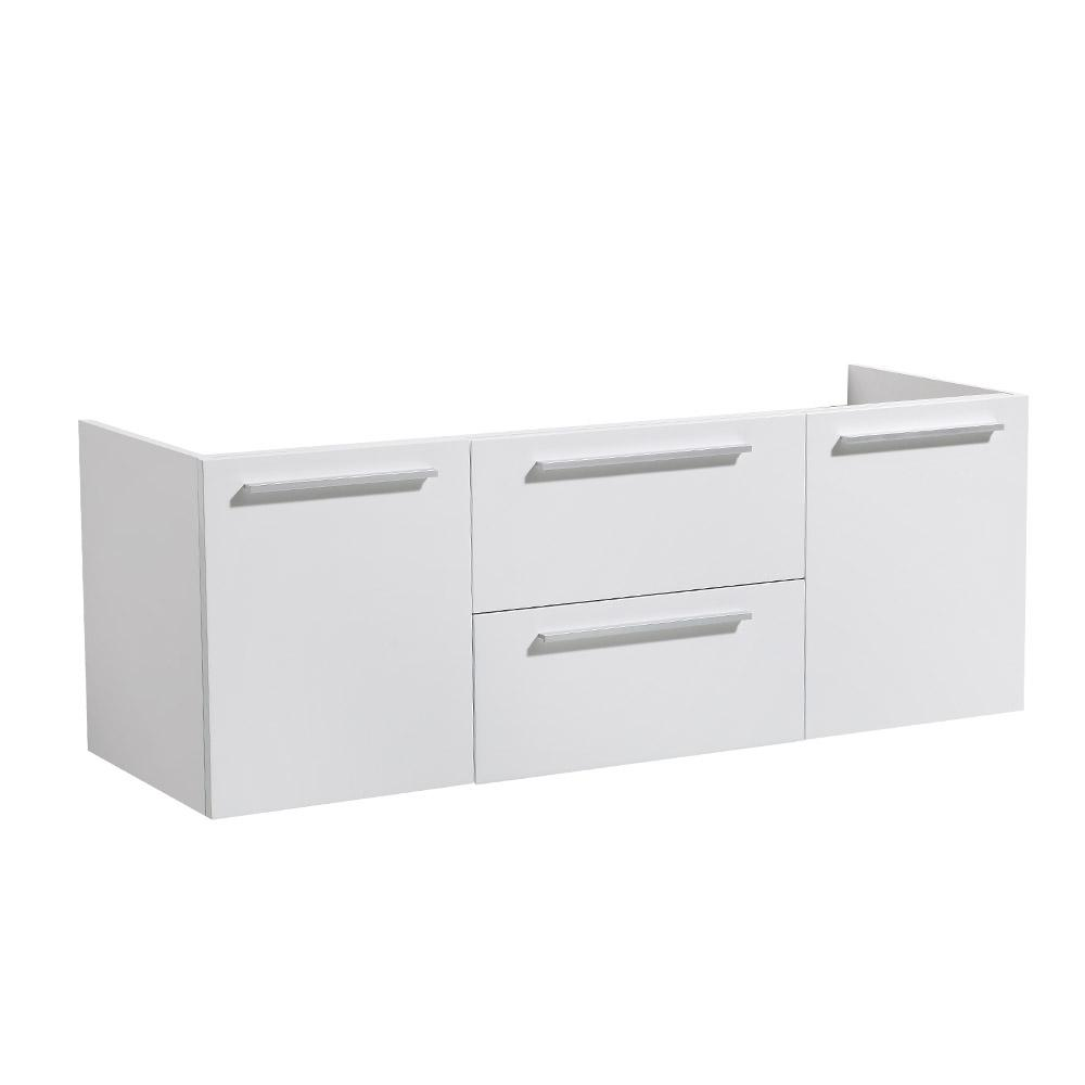 Fresca Onto 54 In Double Bathroom Vanity Cabinet Only White