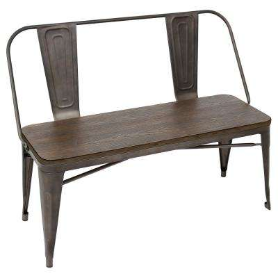 Oregon Antique and Espresso Dining Bench