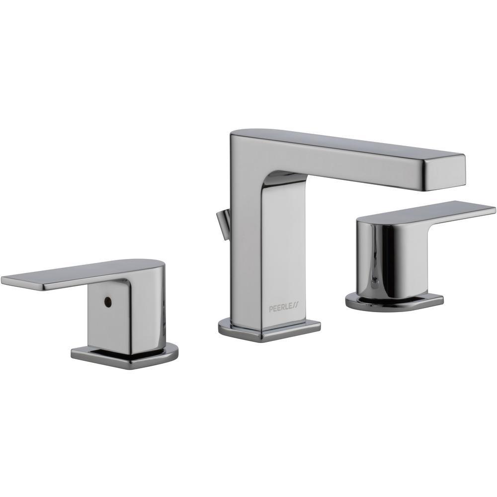 Xander 8 in. Widespread 2-Handle Bathroom Faucet in Chrome