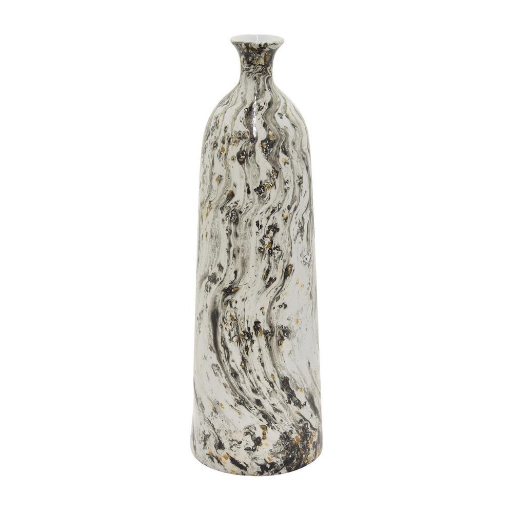 18.5 in. Black Ceramic Vase