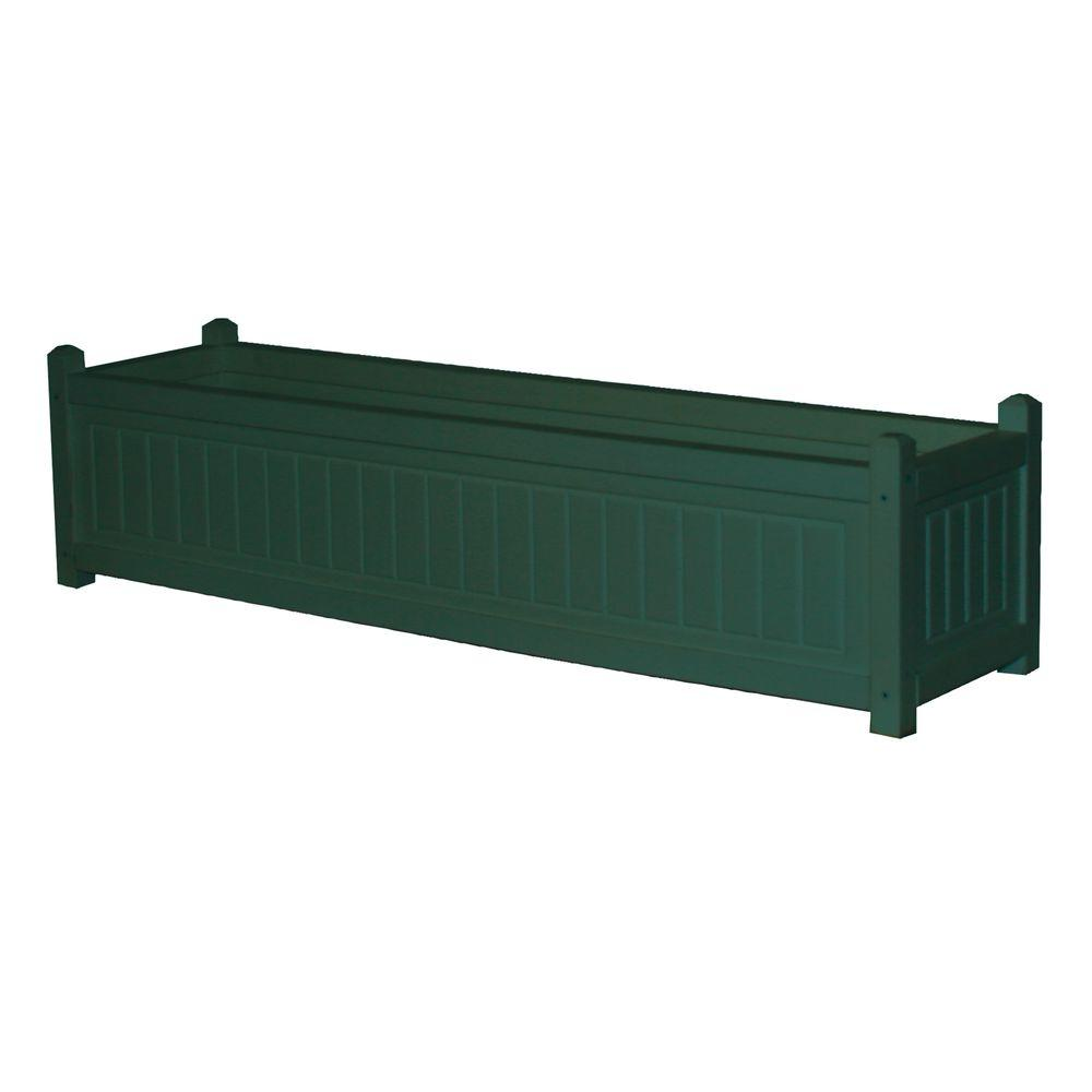 Nantucket 48 in. x 12 in. Green Recycled Plastic Commercial Grade