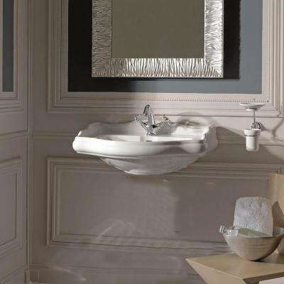 Heritage WSBC 21.7 in. Pedestal Sink Basin in Ceramic White with 3-Faucet Holes
