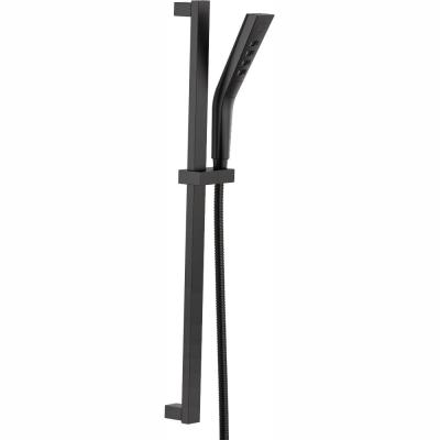Pivotal 3-Spray H2OKinetic Hand Shower with Slide Bar in Matte Black