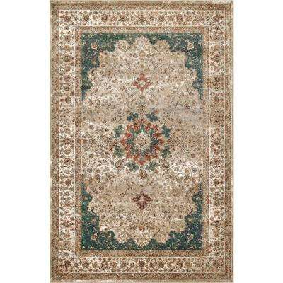 Traditional Kristie Medallion Green 7 Ft 10 In X 11 2