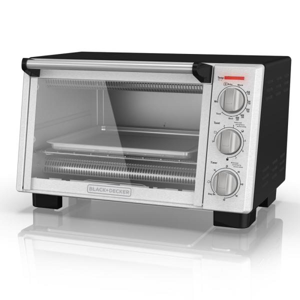 BLACK+DECKER 6-Slice Convection Toaster Oven, Stainless Steel, TO2055S