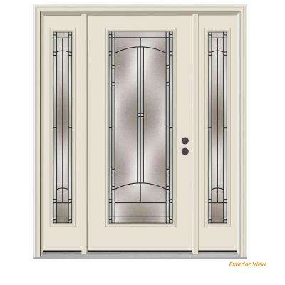 66 in. x 80 in. Full Lite Idlewild Primed Steel Prehung Left-Hand Inswing Front Door with Sidelites