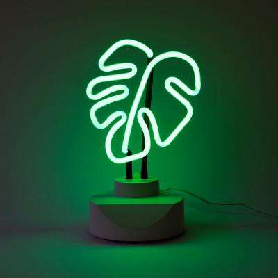 Oliver Gal 'Leaf' Plug-in Neon Table Top  Lighted Sign