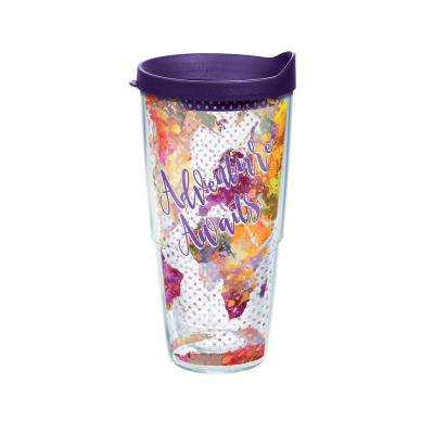 Adventure Awaits 24 oz. Double Walled Insulated Tumbler with Travel Lid