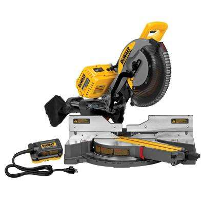 FLEXVOLT 120-Volt MAX Lithium-Ion Cordless 12 in. Double Bevel Sliding Brushless Miter Saw with AC Adapter (Tool-Only)