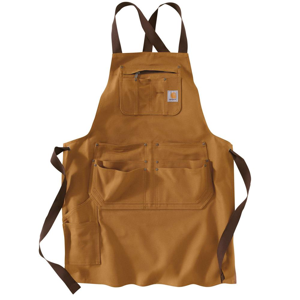 Men's OFA Carhartt Brown Cotton Apron