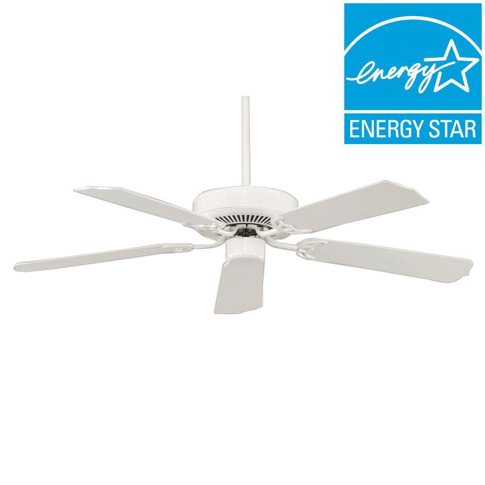 Builder Select 52 in. White Ceiling Fan