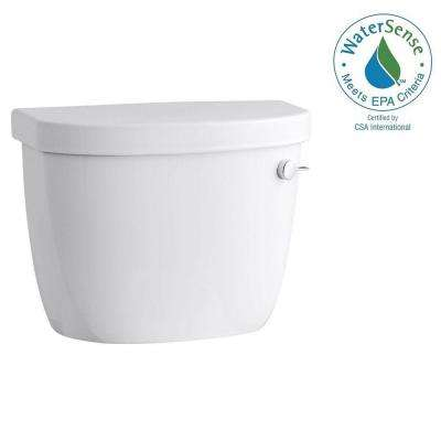 Cimarron 1.28 GPF Single Flush Toilet Tank Only with Right-Hand Trip Leverand AquaPiston Flushing Technology in White