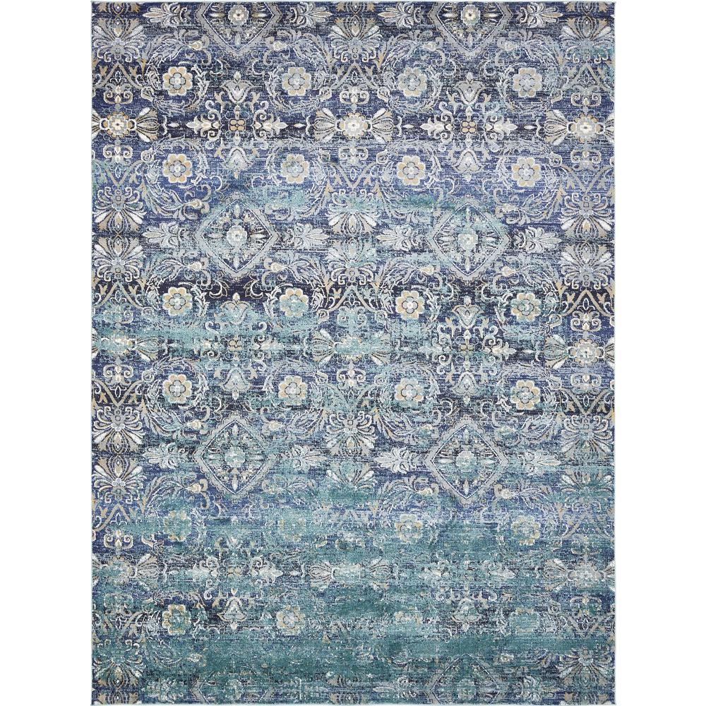 Perfect Unique Loom Lexington Teal 9 Ft. X 12 Ft. Area Rug