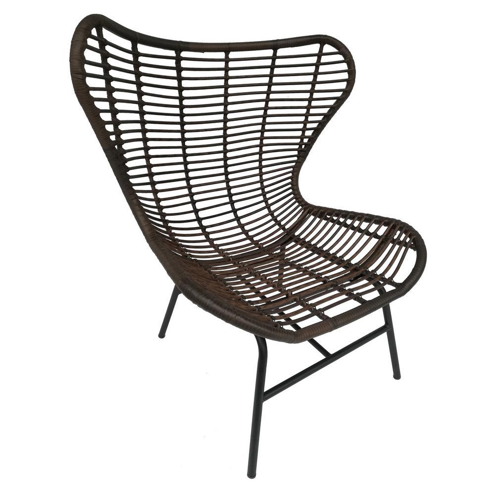 42 in. Brown Metal Chair