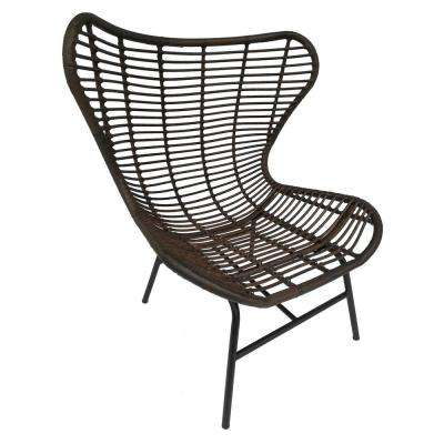 42 in. Brown Metal Chair