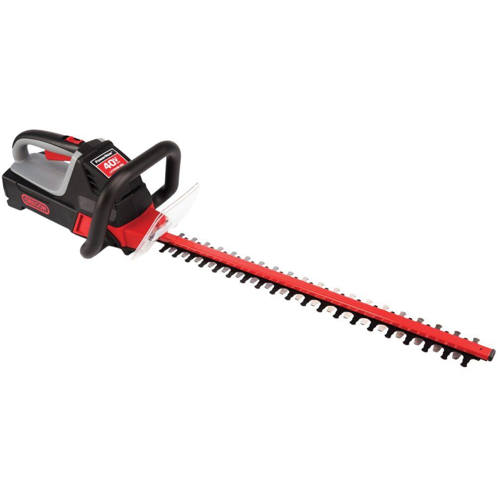 null Oregon 24 in. 40-Volt Max 1.25 Ah Battery Cordless Hedge Trimmer Kit