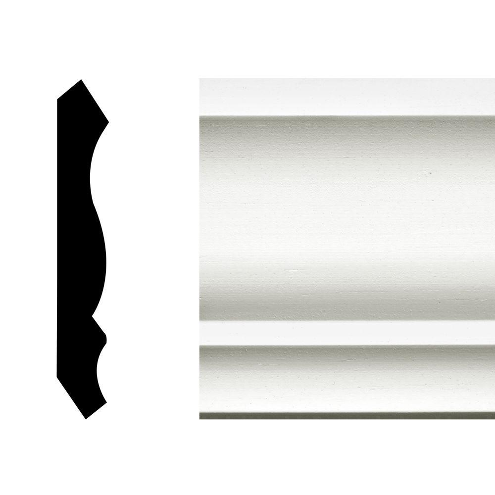 null LWM 49 1/2 in. x 3 5/8 in. x 144 in. MDF Primed Crown Moulding Pro Pack 60 LF (5-Pieces)