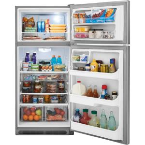 Store SO SKU #1002592734. +7. Frigidaire Gallery 18.1 Cu. Ft. Top Freezer  Refrigerator In Smudge Proof Stainless Steel