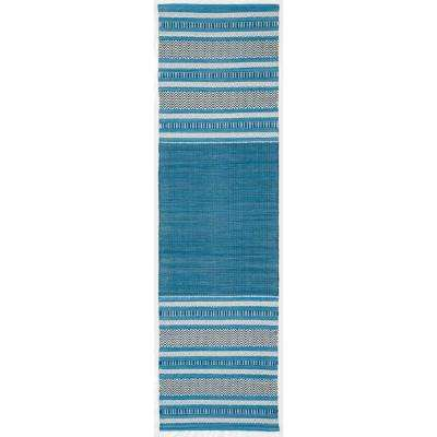 Montauk Blue/Gray 2 ft. 3 in. x 8 ft. Runner Rug