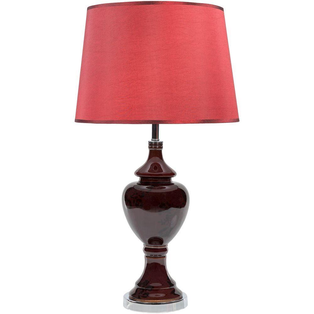Schmidt 24.25 in. Chocolate Indoor Table Lamp