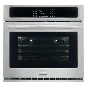 Single Electric Wall Oven Self Cleaning With Convection In Stainless Steel