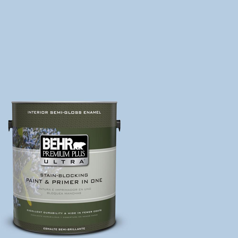 BEHR Premium Plus Ultra 1-gal. #PPU14-14 Crystal Waters Semi-Gloss Enamel Interior Paint