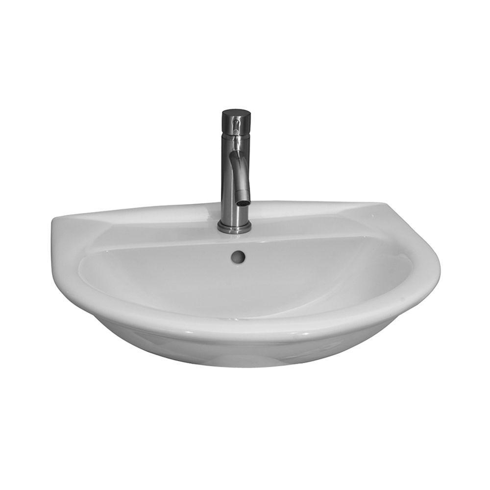 Karla 505 Wall-Hung Bathroom Sink in White