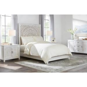 400 Thread Count Performance Cotton Sateen 3-Piece King Duvet Cover Set in Ivory