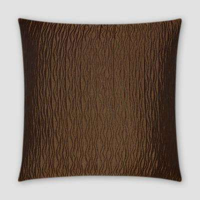 Valencia Bronze Feather Down 18 In. X 18 In. Standard Decorative Throw  Pillow