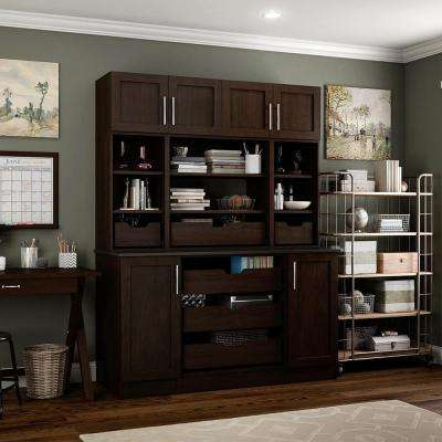 Madison 60 in. W x 80.25 in. H Mocha 8-Cube Organizer Kit