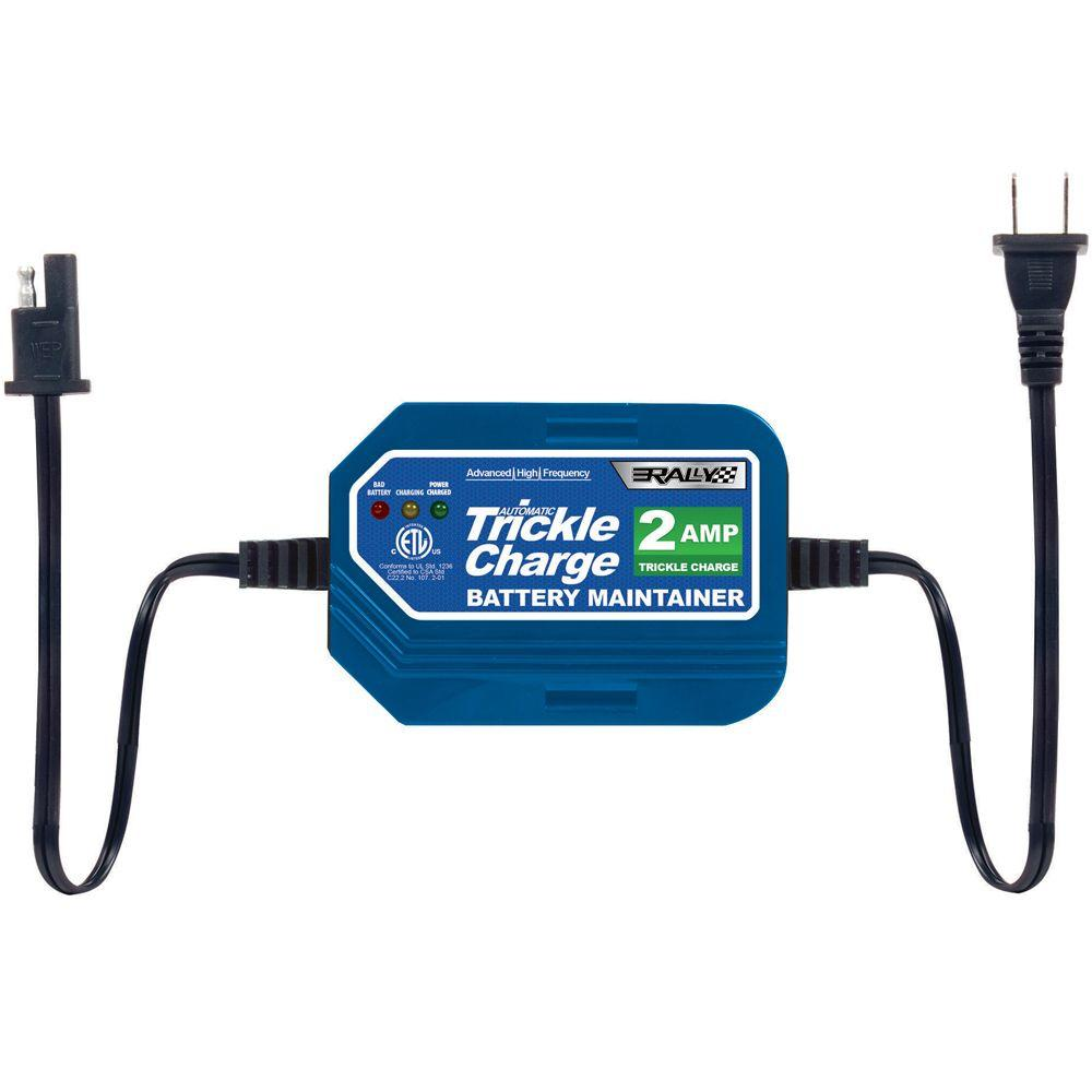Rally 2-Amp Trickle Charge Battery Maintainer for Watercraft