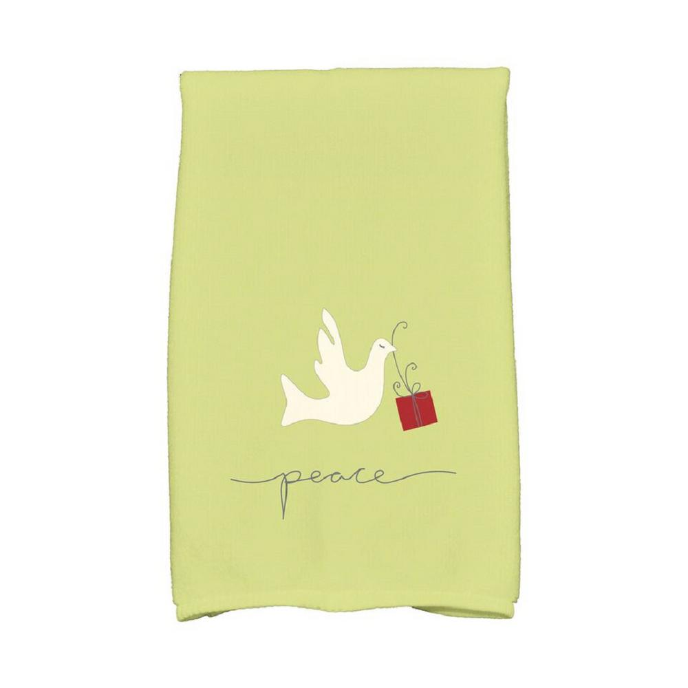 16 In X 25 In Light Green Peace Dove Holiday Animal Print Kitchen