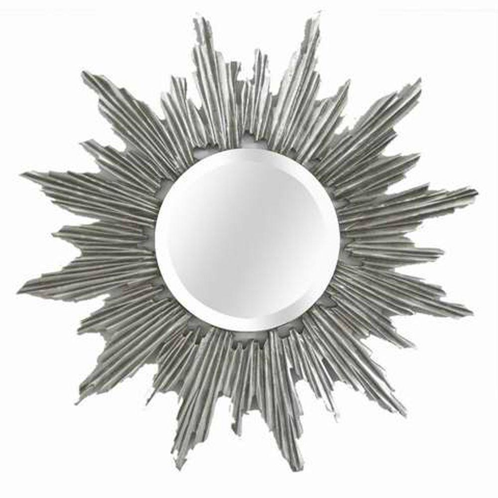MCS 31.5 in. x 31.5 in. Celestial Sunburst Framed Mirror-DISCONTINUED