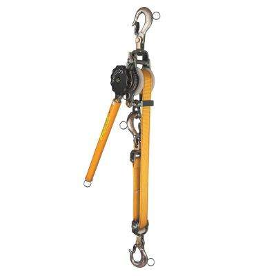 1500 lbs. Web-Strap Hand Ratchet Hoist with Hot Rings