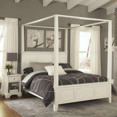 Naples White King Canopy Bed