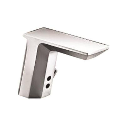 Geometric Hybrid Energy Single Hole Touchless Bathroom Faucet in Polished Chrome