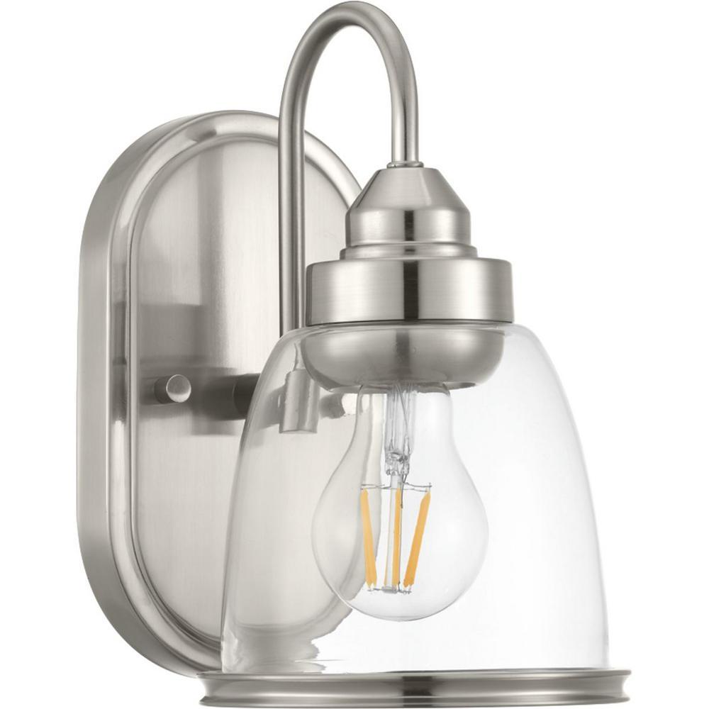 Saluda Collection 1-Light Brushed Nickel Bath Light