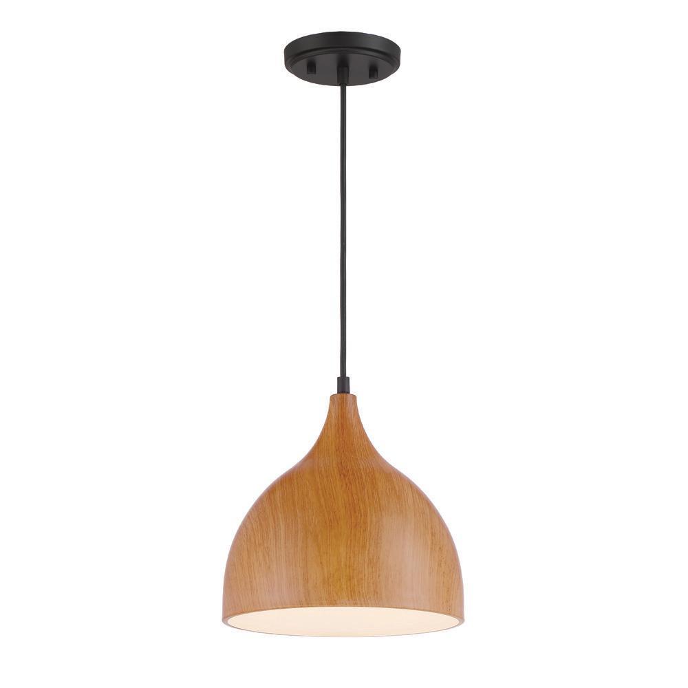 Hana 1 Light Robusta Wood Style Finish