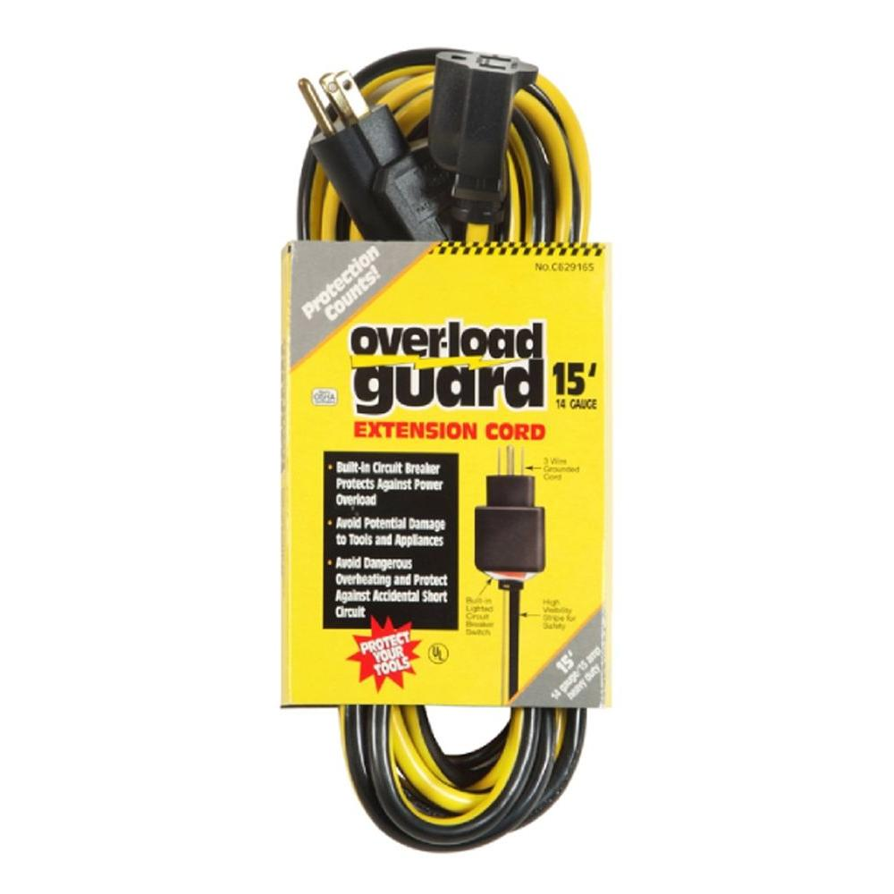 Tower Manufacturing Corporation 15 ft. Circuit Breaker Extension Cord-DISCONTINUED